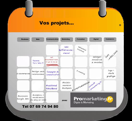 Vos projets avec Promarketing